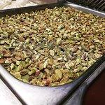 Ciuri Ciuri: pesto di pistacchio di Sicilia, strato di Quella al pistacchio e granella di pistac
