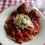 Old Fashioned Sardinian Spaghetti with Meatballs