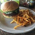Delicious falafel burger