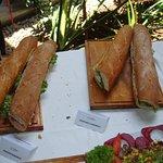 Sandwiches made of La Patisserie's superb baguettes