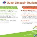 Horaires accueil Ouest Limousin Tourisme