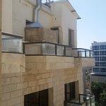 Balkon ohne Zugang ... Rückseite Restaurant / Küche
