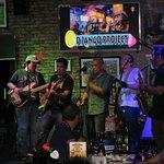 Roadhouse bar, live music around 10 PM.