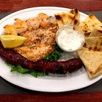 Mixed Grill which comes with two side selections.