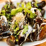 """Mussels In Creamy Sauce with Ouzo For Greek Touch"""