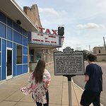 Front of museum with historical marker
