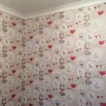 New feature wallpaper in the dining room.