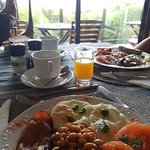 Freshly cooked breakfast on order each day