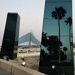 Vista desde la entrada de Burj Al Arab