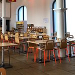 Smart and clean cafe.