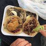 Pavo, lechon and carne asada tacos