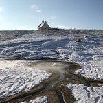 Národná prírodná rezervácia Sivá brada je travertínová kopa s genzírom a barokovou kaplnkou sv.K