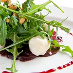 Carpaccio Beetroot with Warm Goats Cheese