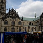 The cathedral on market day (Saturday)