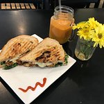 The Knuckle sandwhich and carrot ginger juice drink #DoubleYum