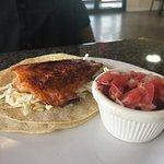 SuperDuper!! We had Crab cakes, Crab sandwich, Clam chowder, Crab salad & Fish tacos... Give me