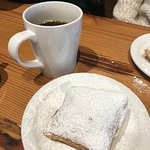 One order of beignets came with 3. We each got one!