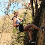 Rappel on a wall at River Expedition