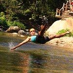 Zipline down the river