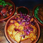 Some tapas from this evening steak special with pepper mayo, halloumi chips & green sweet chilli