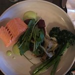The salmon was perfectly prepared.