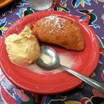 Cherry Empanada with ice cream