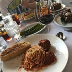 Steak and the Spaghetti and meatballs