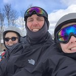 Great ride up the lift with both of my daughters
