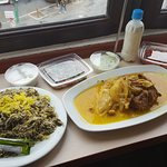 Baghali Polo with lamb meat and other side dishes!
