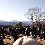 写真では判りにくい富士山