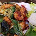 Thai basil w/ brown sauce and shrimp & broccoli. Yum-o