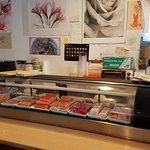 Cute sushi bar, and we always like to see our food prepared and talk to the chef.