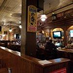 BIG bar, lots of tables, fun spot
