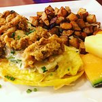 Rockin Omlette with Local Oysters