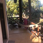 Hammock and deck in front of our room!
