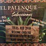 Agave Tasting Last Thursday of the Month