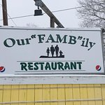 This our sign off of route 7, we are located behind Dexter Variety