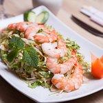 Salade aux crevettes !