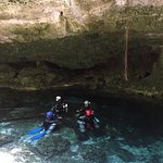 Entrance of the cavern, crystal clear water!