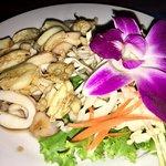 Calamari with garlic