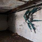 Art in a bunker on a hill