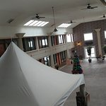 Enclosed center of hotel