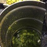Orange zest in the stainless steel barrel. Orange juice is used also.