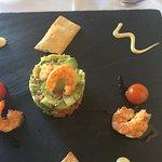 Delicious avocado and prawn starter