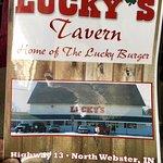 Lucky's Tavern Menu cover