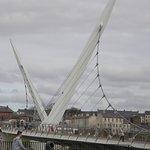 Derry Peace Bridge near City Walls