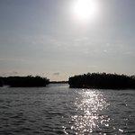 Manglares, atardecer de Puerto Pizarro despues de un pase en lancha y conocer las islas.