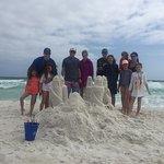 Destin sandcastle building!  Kasey was Awesome!