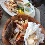 Amazing Crab Platter and my Grouper with tons of Crabmeat was hobbled up too fast to take a pict