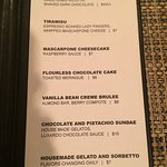 Dolce menu